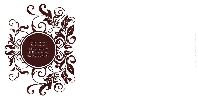 Ansicht 2 - Kontur Einladung Blumenranke