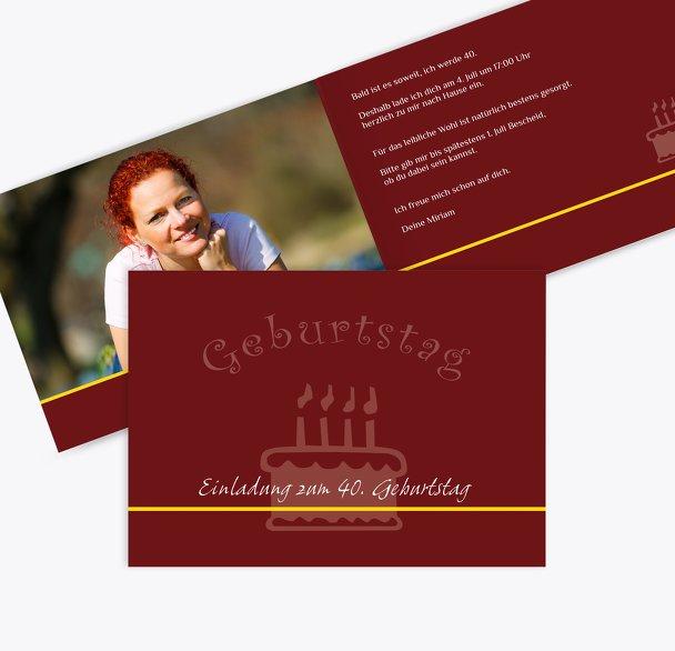 Einladung colour-contrasting 40 Foto
