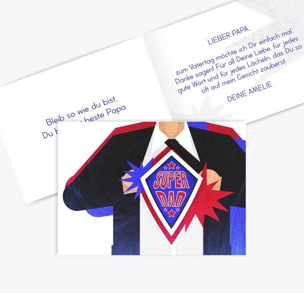 Vatertagskarte Superdad