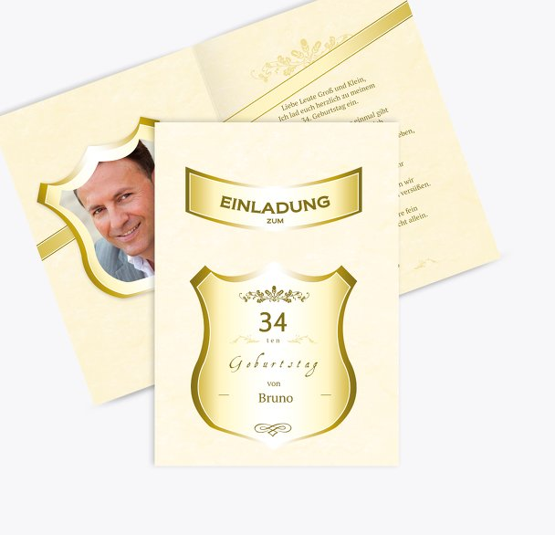 Einladungskarte zum Geburtstag label Foto