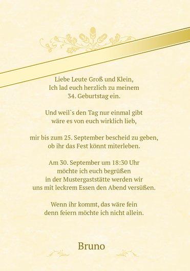 Ansicht 5 - Einladungskarte zum Geburtstag label Foto
