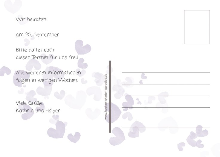 Ansicht 3 - Save-the-Date Liebesglück