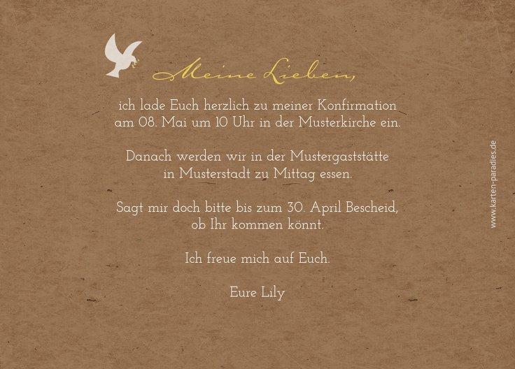 Ansicht 3 - Konfirmation Einladung Flügelschlag