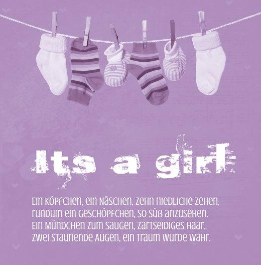 Ansicht 3 - Baby Dankeskarte It's a girl