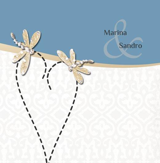 Ansicht 3 - Hochzeit Einladung Unzertrennlich