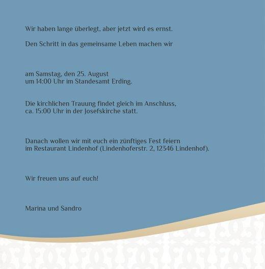 Ansicht 4 - Hochzeit Einladung Unzertrennlich
