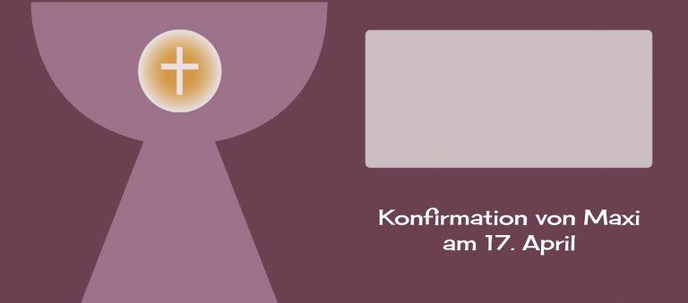 Ansicht 3 - Konfirmation Tischkarte Kelch mit Hostie