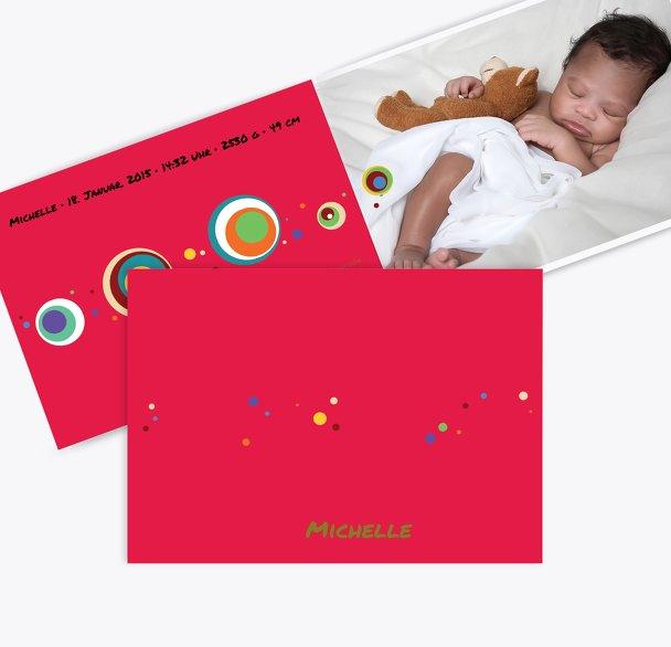 Baby Dankeskarte Retro Kreise