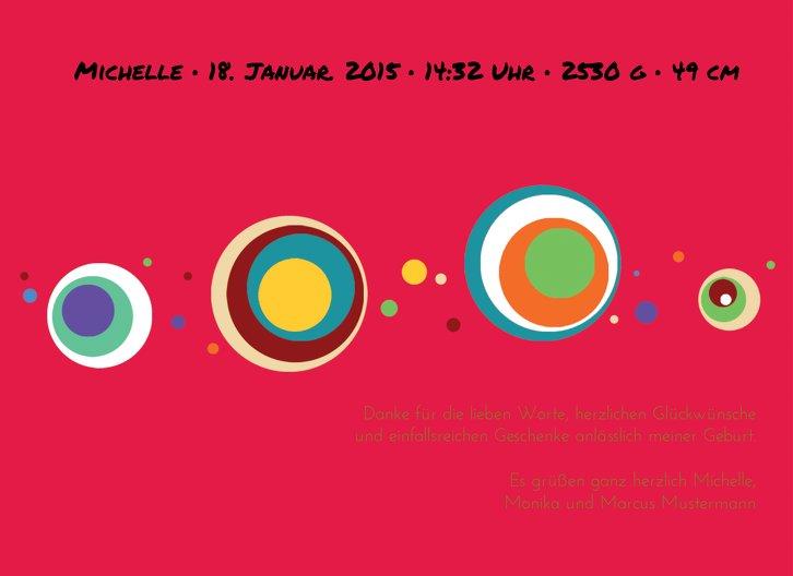 Ansicht 4 - Baby Dankeskarte Retro Kreise