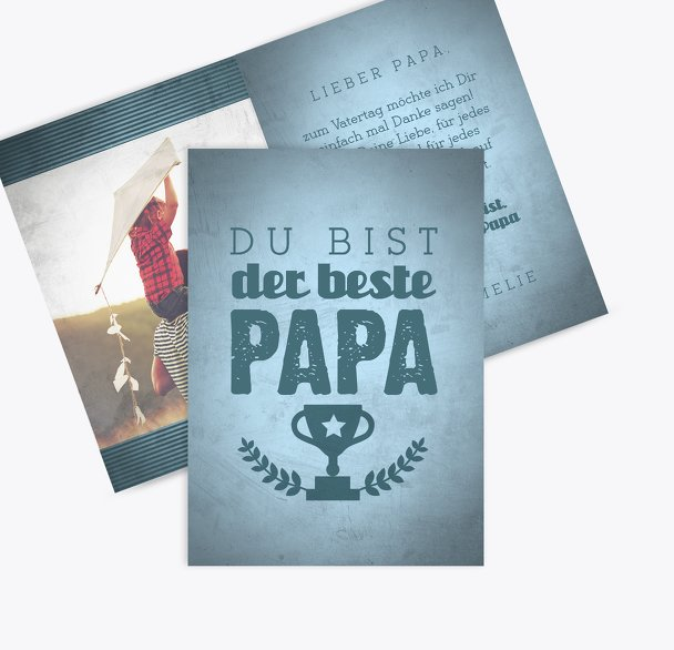 Vatertagskarte Pokal