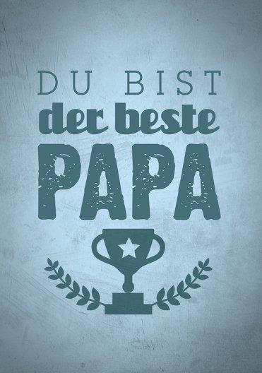 Ansicht 3 - Vatertagskarte Pokal