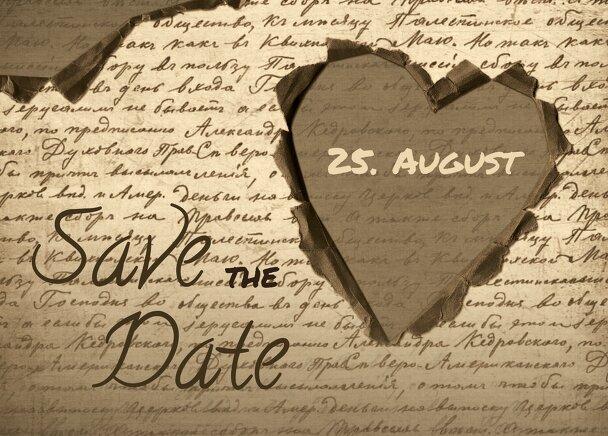 Ansicht 2 - Hochzeit Save the Date Herzensgedicht