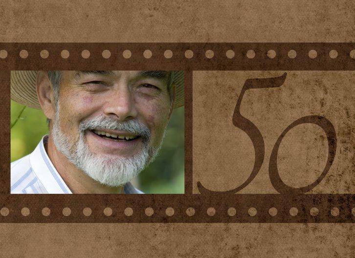 Ansicht 3 - Geburtstagseinladung Retrofilm 50 Foto