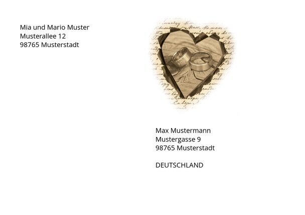 Ansicht 2 - Umschlag Herzensgedicht