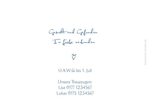 Ansicht 2 - Hochzeit Einladung Buchstabenrätsel