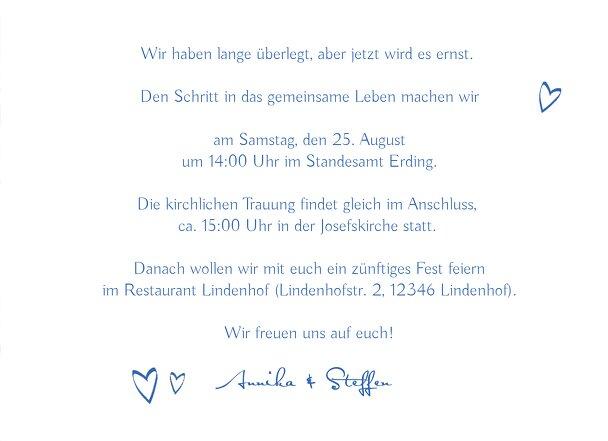 Ansicht 5 - Hochzeit Einladung Buchstabenrätsel
