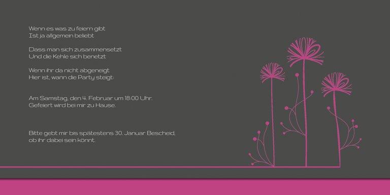Ansicht 5 - Einladungskarte Blume abstrakt