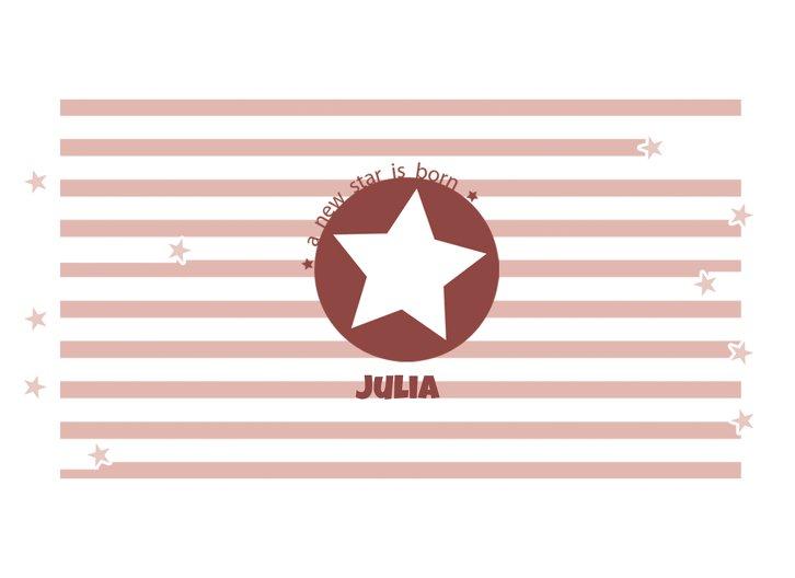 Ansicht 3 - Geburtskarte A new Star