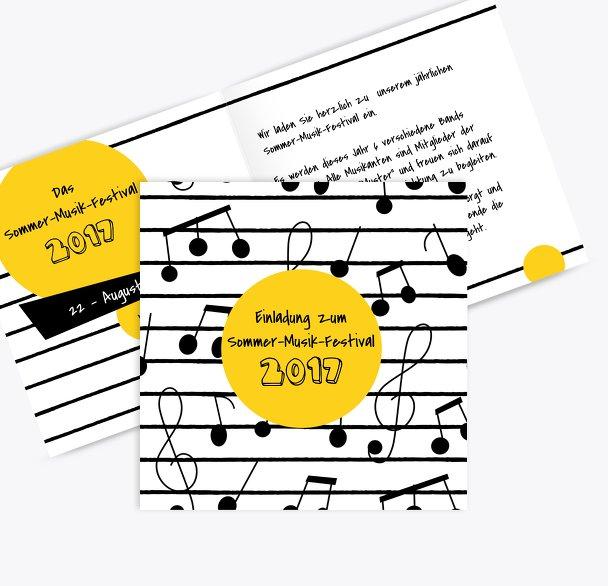 Einladung Sommerfest Musiknoten