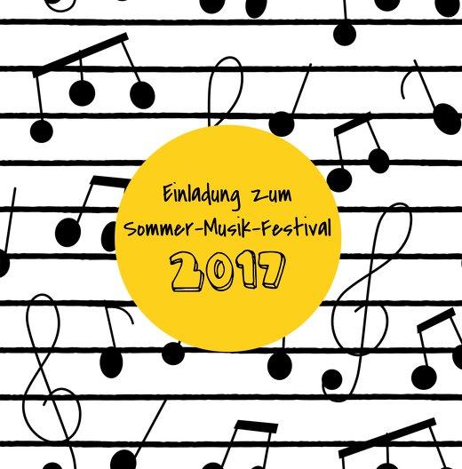 Ansicht 3 - Einladung Sommerfest Musiknoten