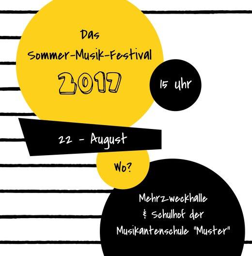 Ansicht 4 - Einladung Sommerfest Musiknoten