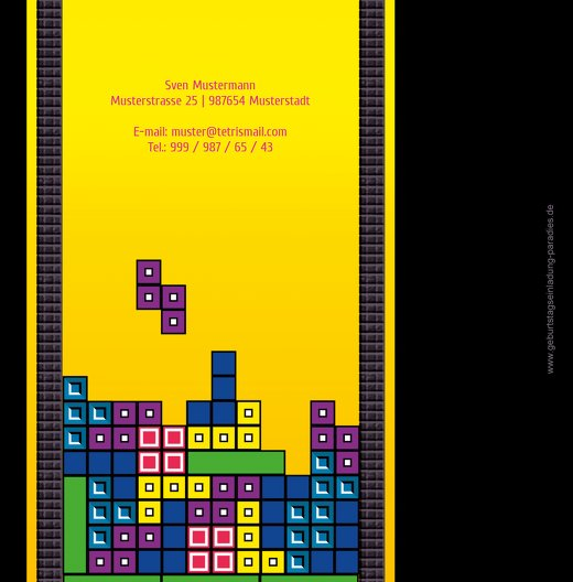 Ansicht 2 - Geburtstagskarte 8bit Game 50 Foto
