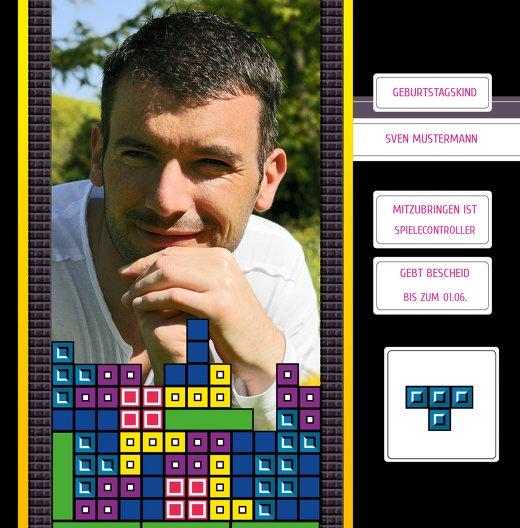 Ansicht 5 - Geburtstagskarte 8bit Game 50 Foto