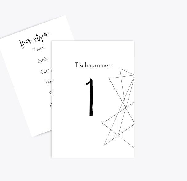 Hochzeit Tischnummer straight heart