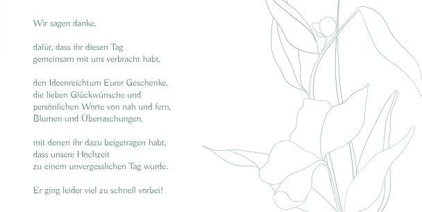 Ansicht 5 - Dankeskarten Hochzeit Zahrte Blume