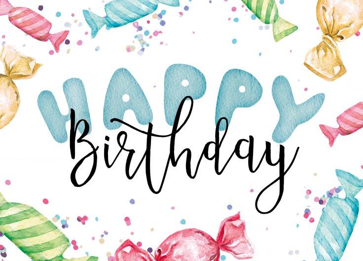 Ansicht 2 - Glückwunschkarte zum Geburtstag Bonbon