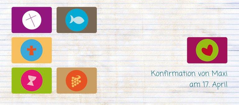 Ansicht 3 - Tischkarte Konfirmation buttons