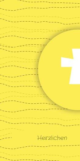 Ansicht 4 - Kommunion Danke Wellen Kreuz