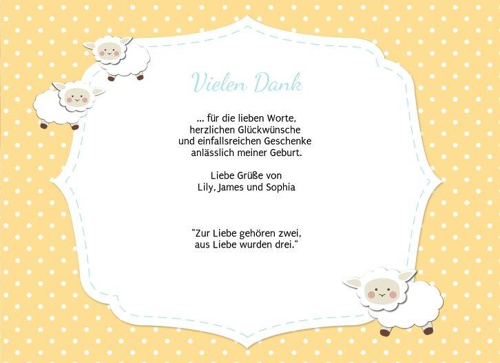 Ansicht 5 - Baby Dankeskarte Schäfchenherde