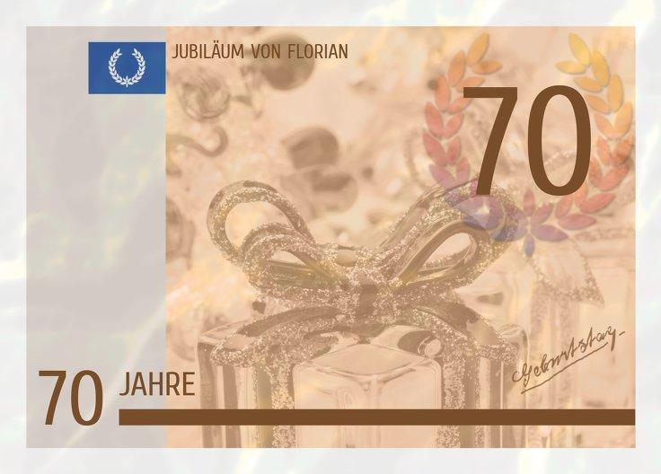 Ansicht 2 - Einladungskarte Geldschein 70