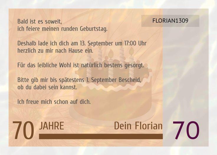 Ansicht 3 - Einladungskarte Geldschein 70