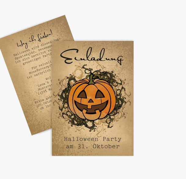 Halloweenkarte Ornament