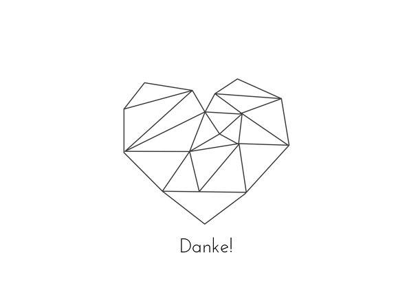 Ansicht 3 - Hochzeit Dankeskarte straight heart
