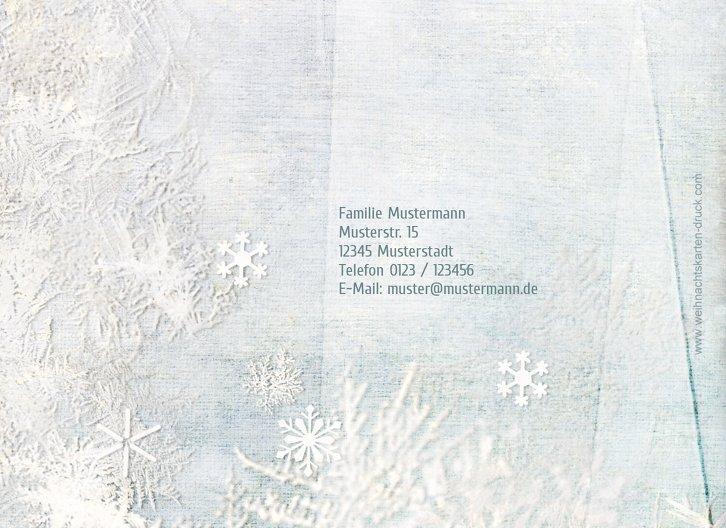 Ansicht 2 - Grußkarte Schneehütte