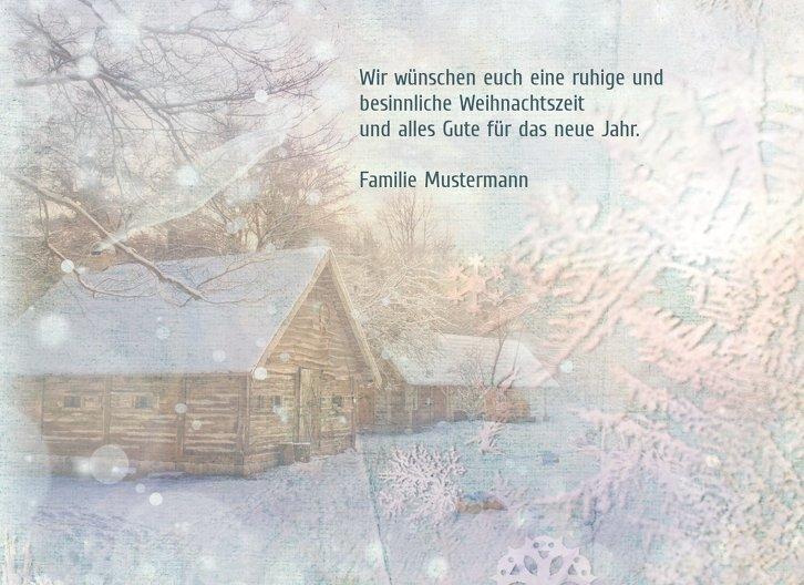 Ansicht 5 - Grußkarte Schneehütte