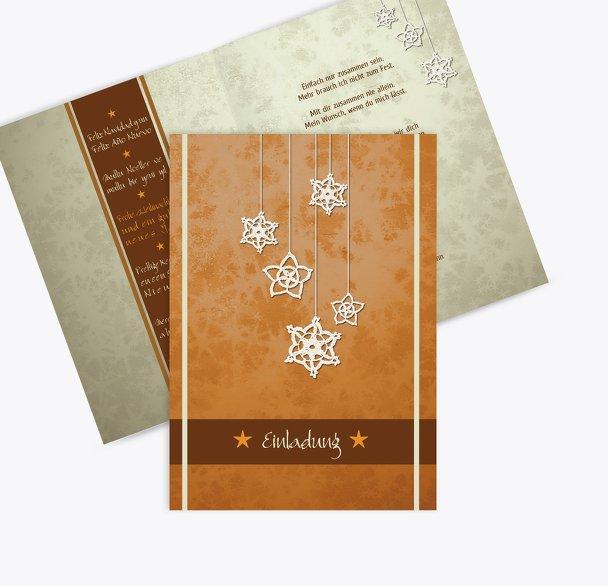 Einladung snowflakes
