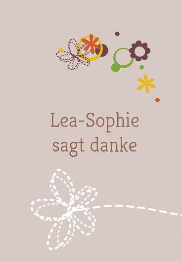 Ansicht 2 - Baby Dankeskarte Blumenornament