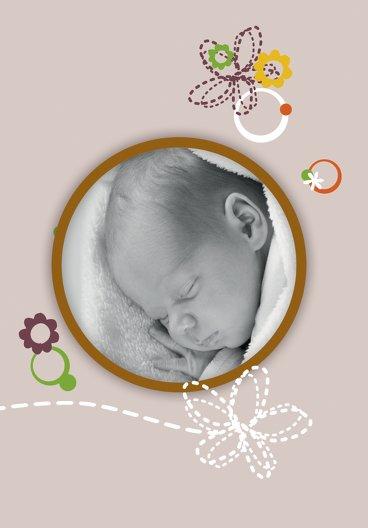 Ansicht 4 - Baby Dankeskarte Blumenornament