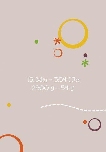 Ansicht 5 - Baby Dankeskarte Blumenornament