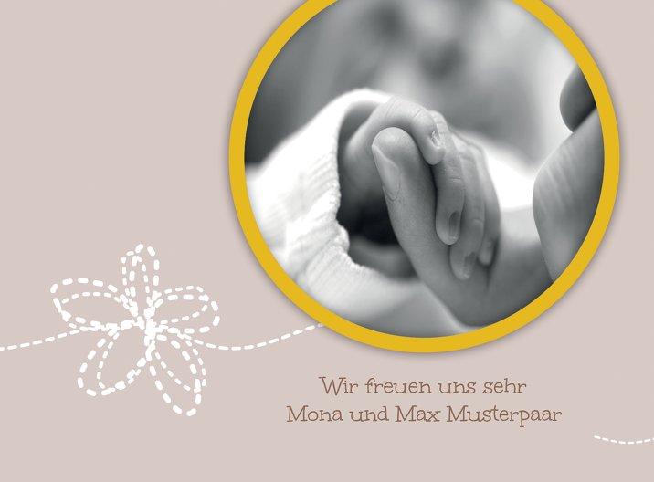 Ansicht 6 - Baby Dankeskarte Blumenornament
