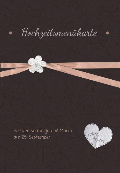 Ansicht 3 - Hochzeit Menükarte sanfte Blüte