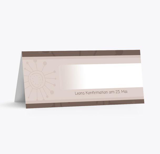 Tischkarte Konfirmation Blumen
