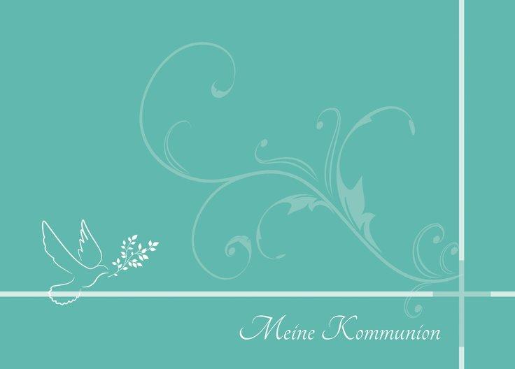 Ansicht 2 - Kommunionskarte floral