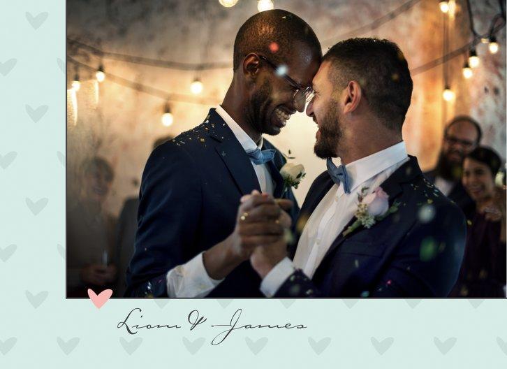 Ansicht 4 - Hochzeit Dankeskarte Pärchen - Männer