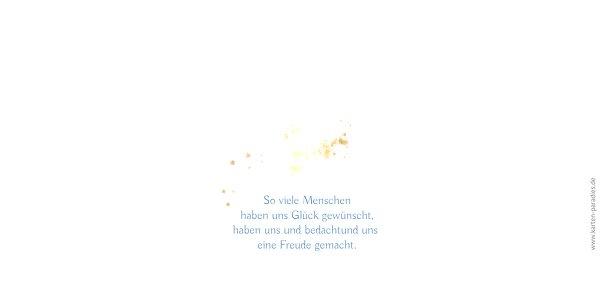 Ansicht 2 - Hochzeit Dankeskarte Wolke Sieben