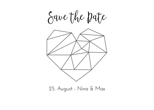 Ansicht 2 - Save-the-Date straight heart